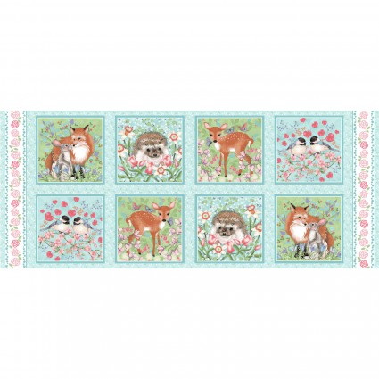 Forest Friends Panel Blue