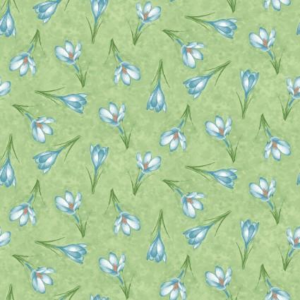 Forest Friends Green Flower Print