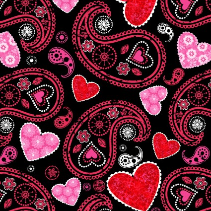 Hearts of Love - Black - 4378-99