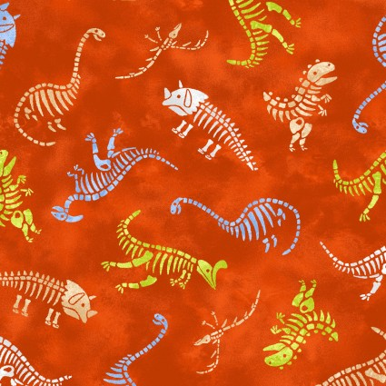 HEAR ME ROAR DINOSAUR SKELETONS ORANGE 440033 Studioe