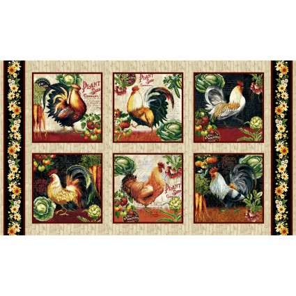 Farmer's Market Rooster Blocks