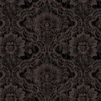 Farmer's Market Damask Black