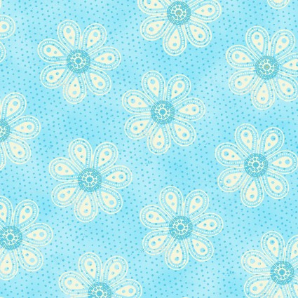 Carrot Patch Flowers Blue