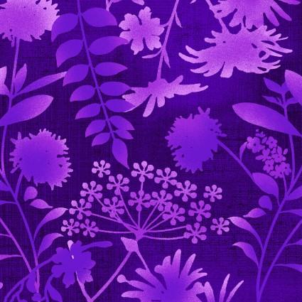 Feather & Flora Purple Leaves SEF4493-58