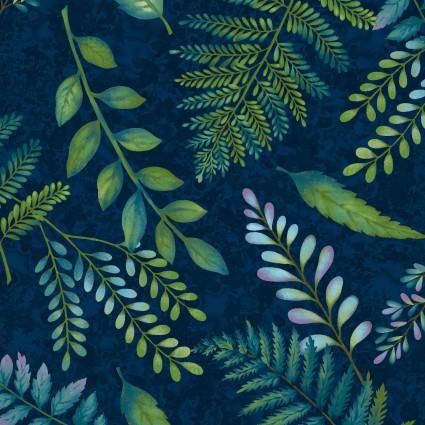 Feather & Flora Midnight Fern designed by Elizabeth Isles