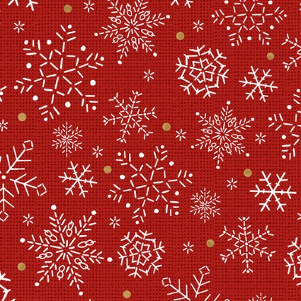 Snowy Magic - Red Snowflakes