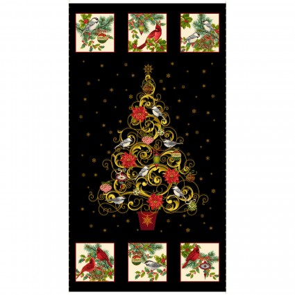 Christmas Joy Tree Panel