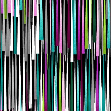 Beauty in Bloom Striped Geometric Black