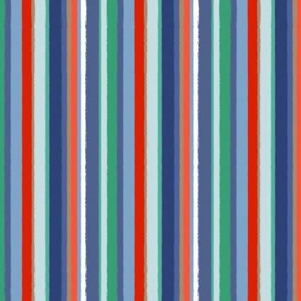 Coastal Dreams - Stripe Navy/Red