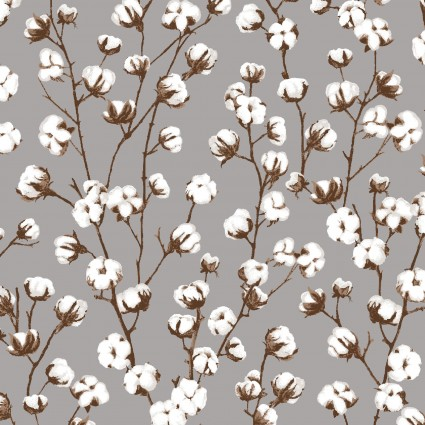 Cotton Plant from the Loads of Fun collection designed by Chelsea DesignWorks for Studio E Fabrics, 4883-93