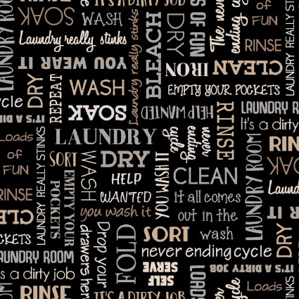 Black Laundry Words