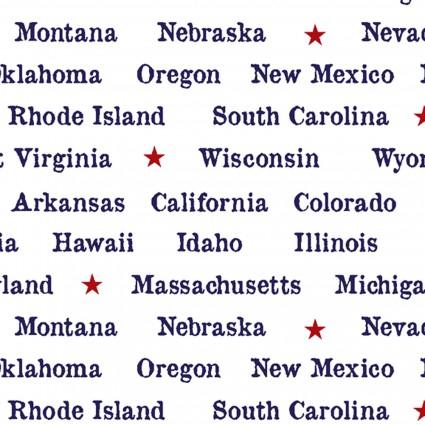 Truckin' in the USA 5005-1 White Typewriter State Words