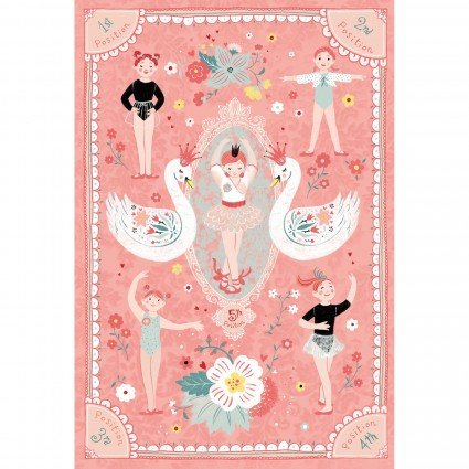 Bella Ballerina - 30 Ballerina Panel - by Lucie Crovatto for Studio E Fabrics