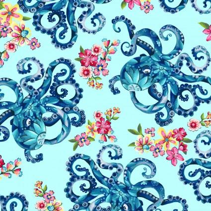 Blooming Ocean Lt Blue Octopus's Garden 5403-17