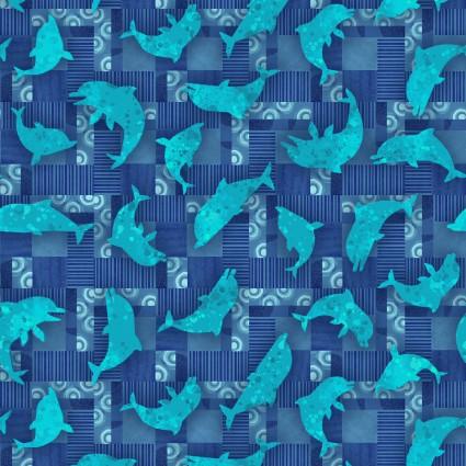 Blooming Ocean Dolphin Toss Blue 5406 71