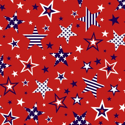 American Style Red Stars