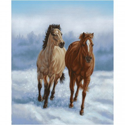 Horse Whisperer Banner Panel by Kathleen Hill for Studioe