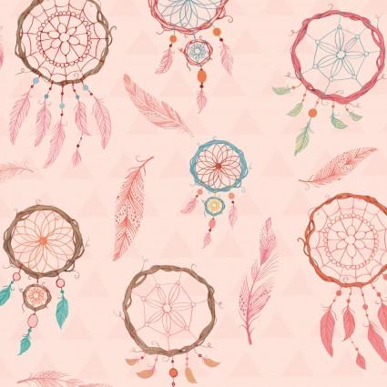 Dream Catchers Pink Dream Catchers Flannel