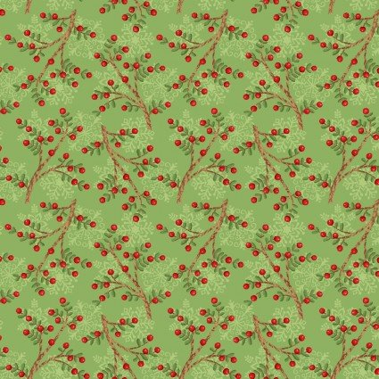 Snow Place Like Home Green Flannel