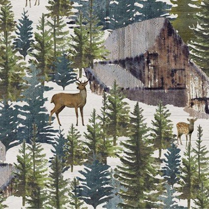 Cuddle Shannon Studio Pine Forest DCPINEFOREST-WHITE