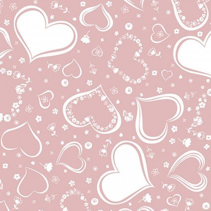 Embrace Cotton Prints Two of Hearts