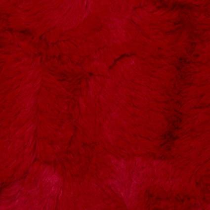 Cuddle Luxe Hide Cardinal