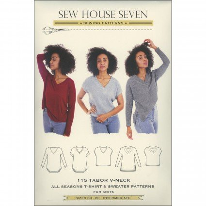 SEW HOUSE SEVEN PATTERNS - Tabor V-Neck