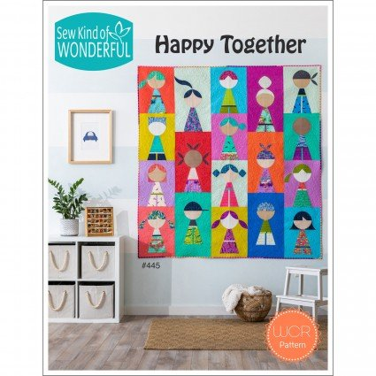 SKW445 Happy Together Quilt Pattern by Sew Kind of Wonderful