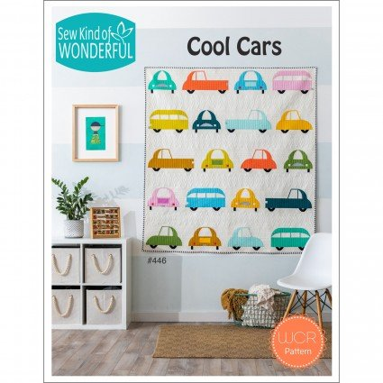 SKW446 Cool Cars Pattern by Sew Kind of Wonderful