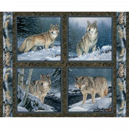 Contemplation- Wolf Panel (21D)