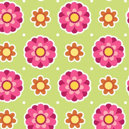 Anna's Garden - Leaf Flower Dots by Patrick Lose Fabrics