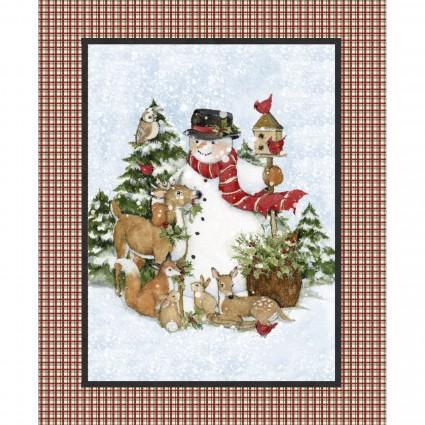 Christmas - SW SNOWMAN DEER PANEL