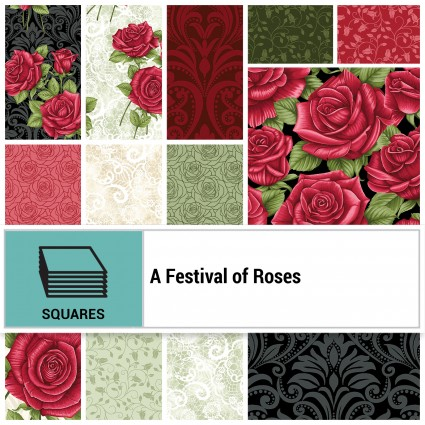 A Festival of Roses 42-10 square collection