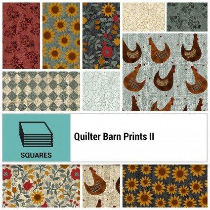 Quilter Barn Prints II -- 10 squares/42 count  SQ-BENQB210PK