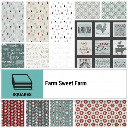 Farm Sweet Farm 10 sq (42pc)