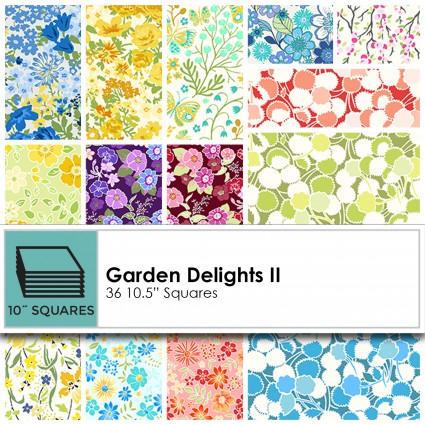 Garden Delights II Ten inch Squares