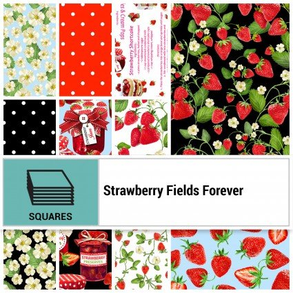 Strawberry Fields Forever 10 Squares