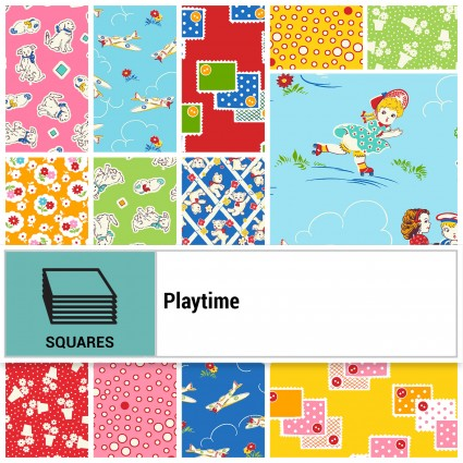 WASHINGTON SQ-WSSPLAY Playtime 10 INCH SQUARES