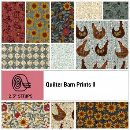 Quilter Barn Prints II Strippies -- 2-1/2 strips  STQB2PK
