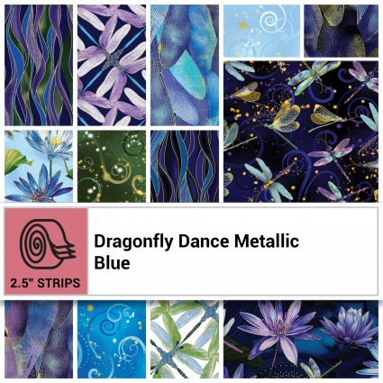 Dragonfly Dance Metallic - Blue  5 charms