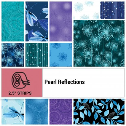 Pearl Reflections Strip-pies (40- 2 1/2x42)
