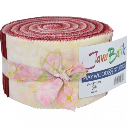 Strips - Java Batiks Cherry Jubilee<br/>Maywood Studio MASJAB-PIN