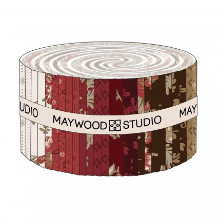 Ruby Jelly Roll -  Designer: Bonnie Sullivan 2.5 Strips (40pcs)
