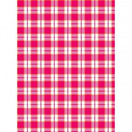 E Towel Pink Plaid