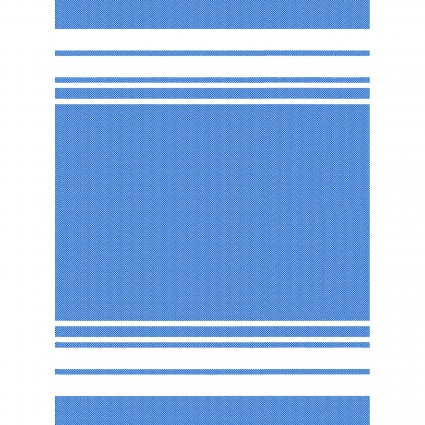 GIFT- Towel Blue w/White Stripes