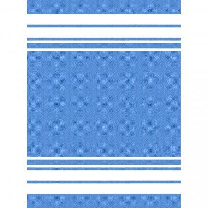 GIFT- Towel Blue w/White Stripes