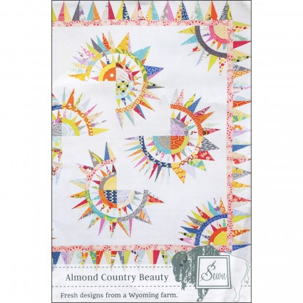 Almond Country Beauty Paper Pieced by Sewn Wyoming (Paper Pieced)