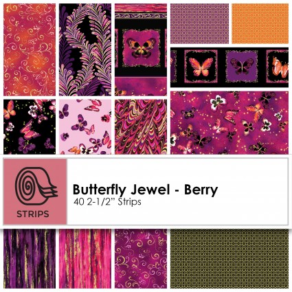 Butterfly Jewel - Berry Jelly Roll