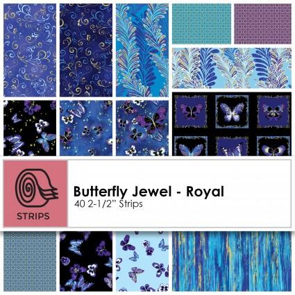 Kanvas Studio - Butterfly Jewel - Royal 2.5 Strips (40pcs) -ST-KASBUJ-ROY