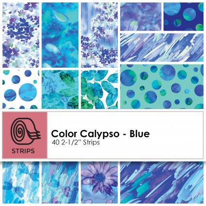 Kanvas Studio - Color Calypso - Blue 2.5 Strips (40pcs) - ST-KASCOC-BLU